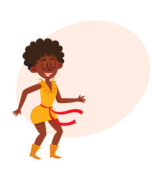 pretty black african american woman dancing at vector image