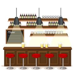 pub and restaurant background scene vector image
