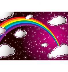 Rainbow cloud vector
