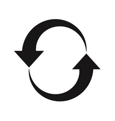 restart icon updatereloadrefreshreset symbols vector image