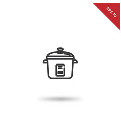 rice cooker icon vector image