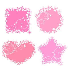 Romantic frames vector image