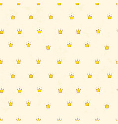 seamless pattern with cute crowns simple vector image