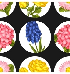 Seamless pattern with garden flowers Decorative vector image