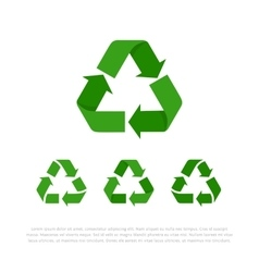 set four flat isolated recycle symbols vector image
