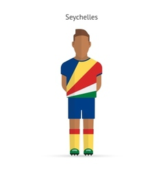 Seychelles football player Soccer uniform vector