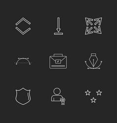Shield nib breifcase arrows directions vector