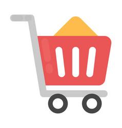Shopping cart flat icon vector