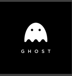 Simple ghost logo icon template vector