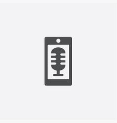 Smartphone microphone icon vector