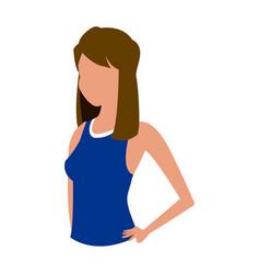 Sport girl fitness health design vector