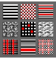 Striped and Chequered Patterns Set vector
