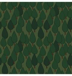 Summer tree seamless pattern vector