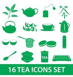 Tea icons set eps10 vector