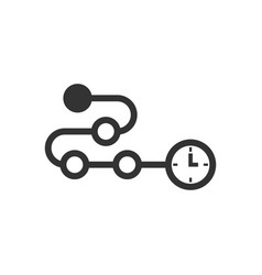 Timeline icon in flat style progress on white vector