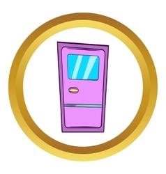 Train door icon cartoon style vector