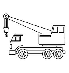 Truck crane icon outline vector