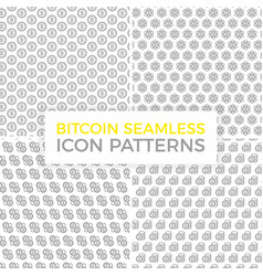 Unique digital money and bitcoin seamless pattern vector