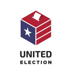 united states election logo vector image