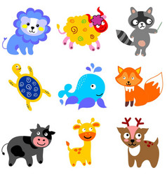Various funny animals vector