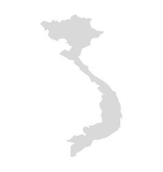 Vietnam map card region vietnam cambodia vector