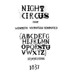 Vintage fanciful font vector