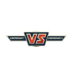 vs logo versus board rivals vector image