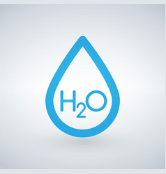 Water h2o drop line icon outline sign linear vector
