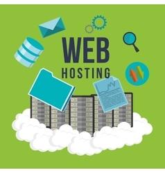 Web hosting design vector