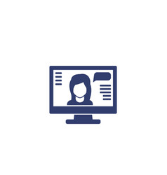 webinar online training icon on white vector image