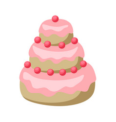 wedding cake icon of sweet dessert vector image