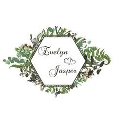 wedding horizontal floral invitation invite card vector image