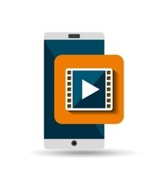 white smartphone movie network digital vector image