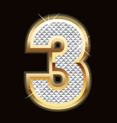 three bling bling vector image vector image