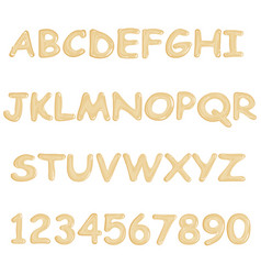 white chocolate font vector image