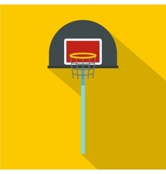Basketball hoop icon flat style vector image vector image