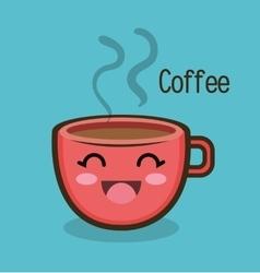 cartoon cup coffee hot design vector image