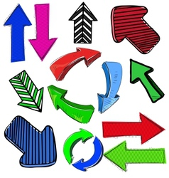 Colorful arrows set vector image vector image
