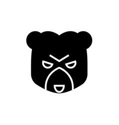 bear market icon black sign vector image vector image