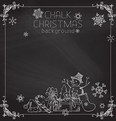 Chalk christmas background vector