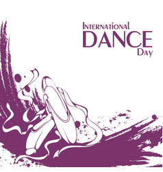 dance day pointe vector image
