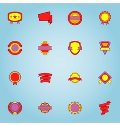 Label icons set cartoon style vector image vector image