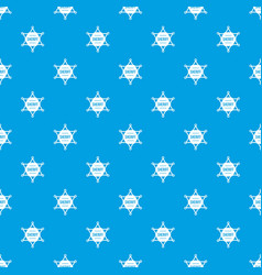 sheriff badge pattern seamless blue vector image vector image