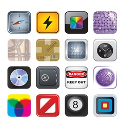 apps icon set two vector image vector image