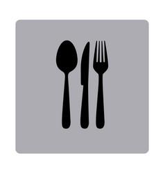 figure emblem metal cutlery icon vector image vector image