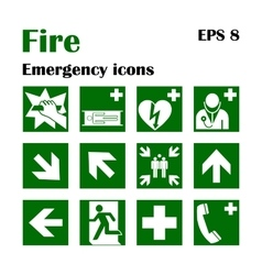 Fire emergency icons Fire vector image vector image
