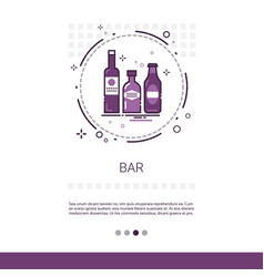 restaurant bar alcohol drink service banner with vector image
