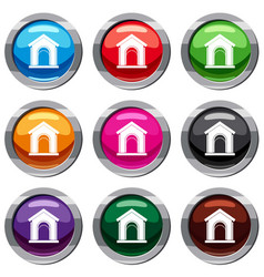 toy house set 9 collection vector image vector image