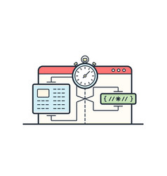 website speed loading time vector image vector image