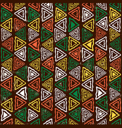 abstract african art tribal seamless pattern vector image